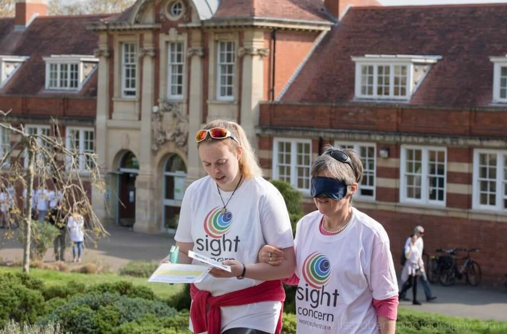 Walk the Blindfold Mile – Redditch Town Centre, Saturday 8th June