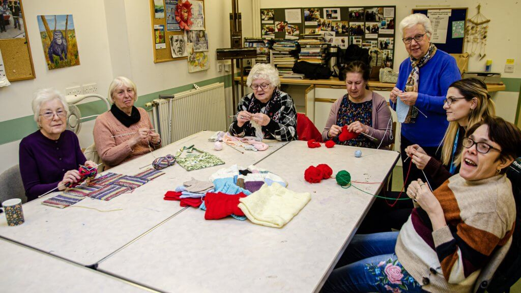 this is a photo of the craft group at the Bradbury Centre, Worcester