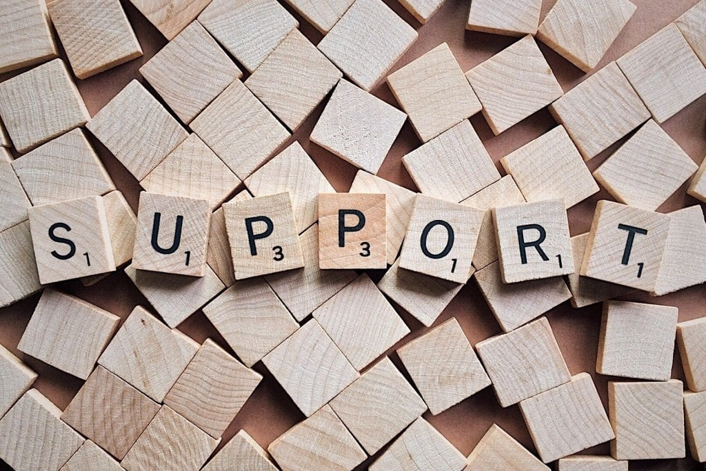 this is an image of the word support